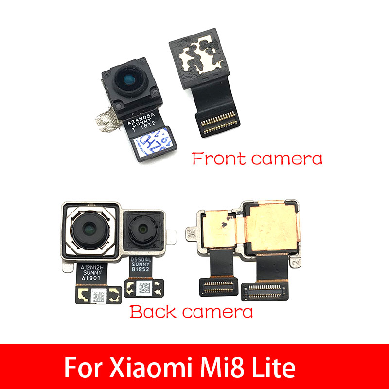 Back Rear Camera Module Flex Cable +Front Facing Camera For Xiaomi Mi 8 Mi8 Lite Replacement