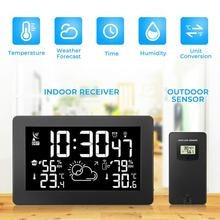 Wireless weather station weather forecast digital thermometer&hygrometer Colorful LCD display electric alarm clock new abs multi functions digital desk pen pencil holder display lcd alarm clock thermometer