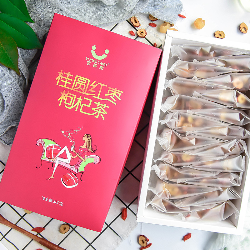 Longan Red Dates Wolfberries Tea Red Dates Wolfberries WOMEN 'S Combination Herbal Tea beauty tea 20 packets in a box