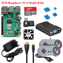 Ram-Board Heat-Sink Abs-Case Pi 4-Model-B-Kit Enclosure Power-Supply 2GB with 5V 3A