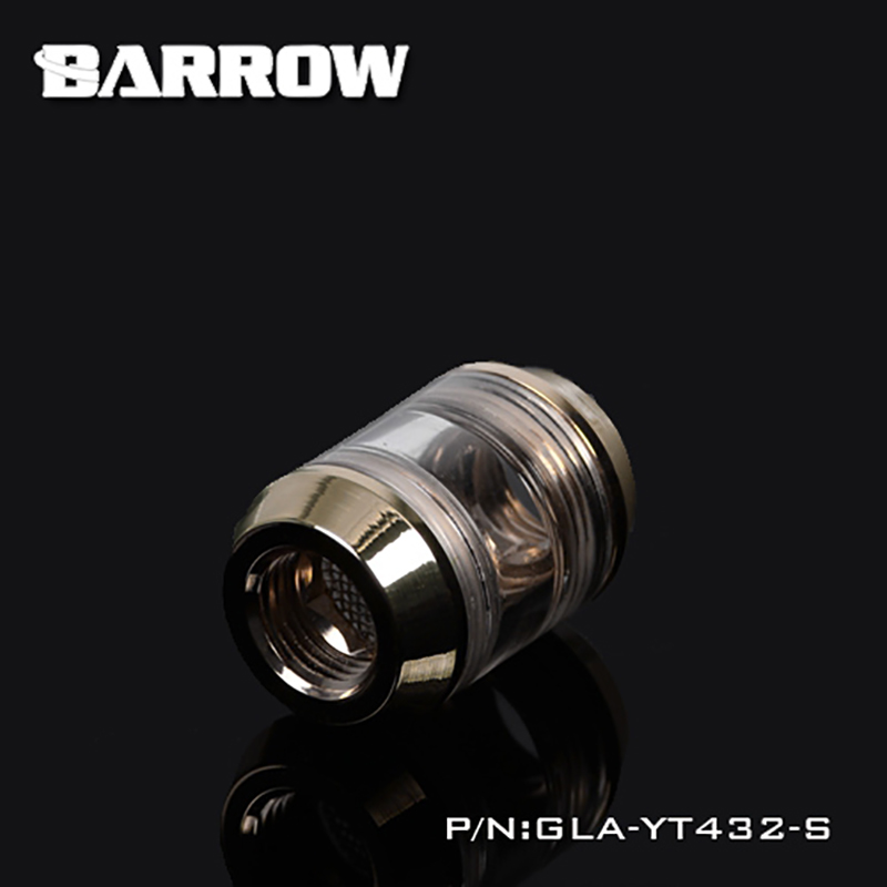 Barrow GLA-YT432-S Acrylic Filter G1/4 With Filter Net Water Cooling Filter Suitable Installation The Front Of Cooling Equipment