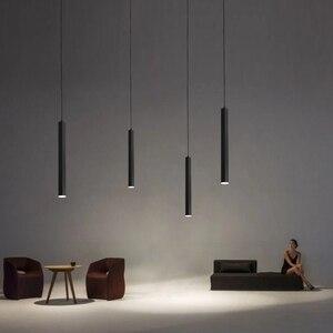 Image 4 - Luminária led ilha de cozinha, sala de jantar, bar, balcão de decoração, cilindro, lâmpadas penduradas, luminária downlight AC85 265V