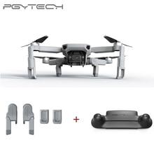 Pgytech 2 pçs para dji mavic mini extensão do trem de pouso + controle remoto guarda