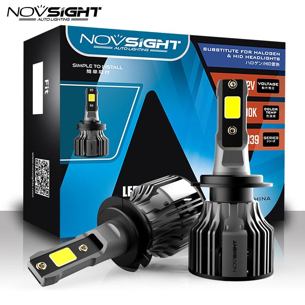 NOVSIGHT супер H7 светодиодный фонарь Мини H4 светодиодный H8 H9 H11 HB3 HB4 9005 9006 H1 автомобильная лампа 9004 9005 880 881 противотуманные фары 12В Автомобильные ...