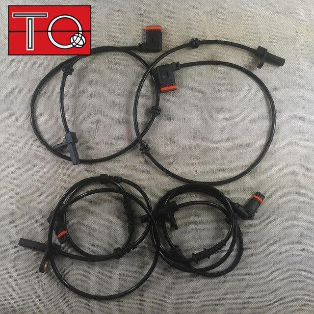 مستشعر سرعة العجلة 4 × ABS ، أمامي وخلفي ، L & R ، مناسب: 2007 2010 W216 W221 2215400317 2215400117 2219055700 ، 2219057100 ، 2ABS1020
