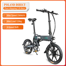 Bicycle Fat-Ebike Electric-Bike Folding Fiido D2s Mileage Moped Top-Speed 80KM 250W 20-Inches