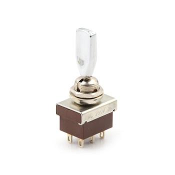 1 sztuk AC 250V 3A 3 pozycja ON OFF ON DPDT płaski uchwyt przełącznik dwupozycyjny KN3 203 KN3-203 tanie i dobre opinie HUXUAN CN (pochodzenie) ON-ON Przełączniki 1 year MTS-102 Toggle Switch Switches