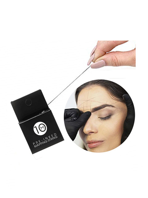 Microblading Supplies Pre-Inked Eyebrow Mapping String 10Meters Ultra-Thin Mess-Free Thread Create a Crisp Spot-on Brow 1