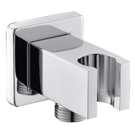 Vidric Square Hand Held Shower Head Wall Outlet Elbow With Holder, Wall Mounted Shower Head Support For Shower Head