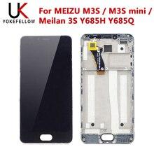 Cep telefonu LCDs MEIZU M3S / M3S mini / Meilan 3S Y685H Y685Q LCD ekran dokunmatik meclisi ile