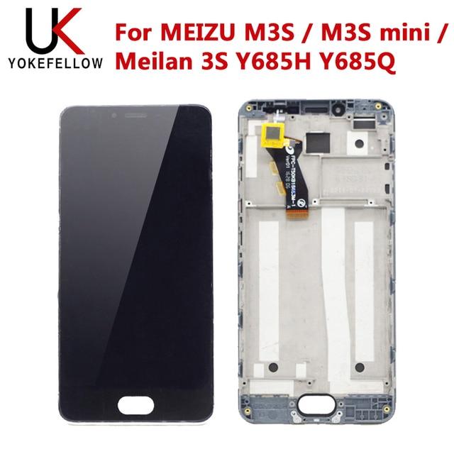צגי Lcd טלפון נייד MEIZU M3S / M3S מיני/Meilan 3S Y685H Y685Q תצוגת LCD עם מגע הרכבה