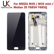 شاشات الكريستال السائل للهاتف المحمول ل MEIZU M3S / M3S mini / Meilan 3S Y685H Y685Q شاشة LCD مع تجميع تعمل باللمس