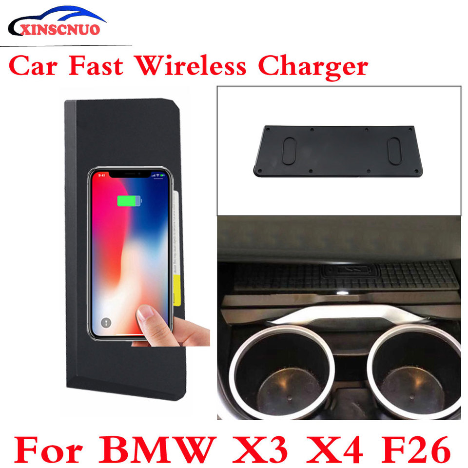 10W QI Car wireless Charger Photo For BMW X3 X4 F26 2014