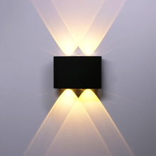 Wall-Lamp Fence-Wall-Sconce Bedroom Balcony Living-Room Outdoor Waterproof LED Courtyard