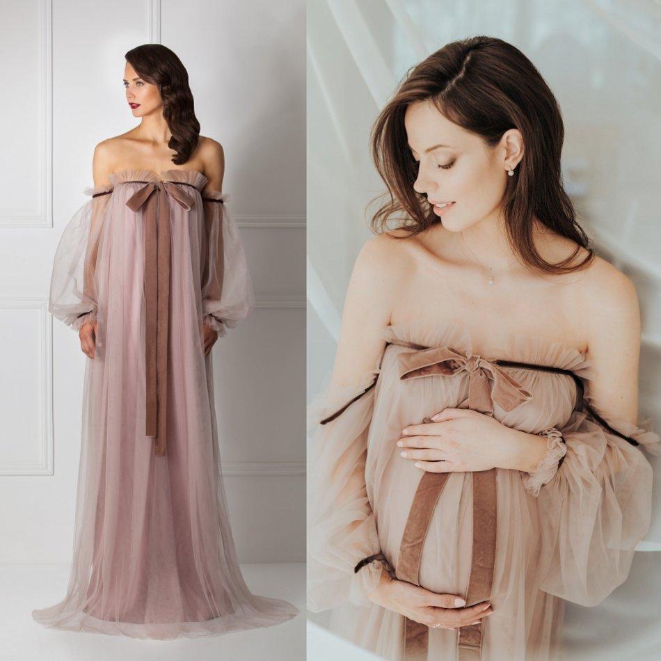 Pregant Women Sleepwear Bathrobe Long Silk Kimono Dressing Gown Babydoll Lace Lingerie Bath Robe Sexy Camisola De Dormir
