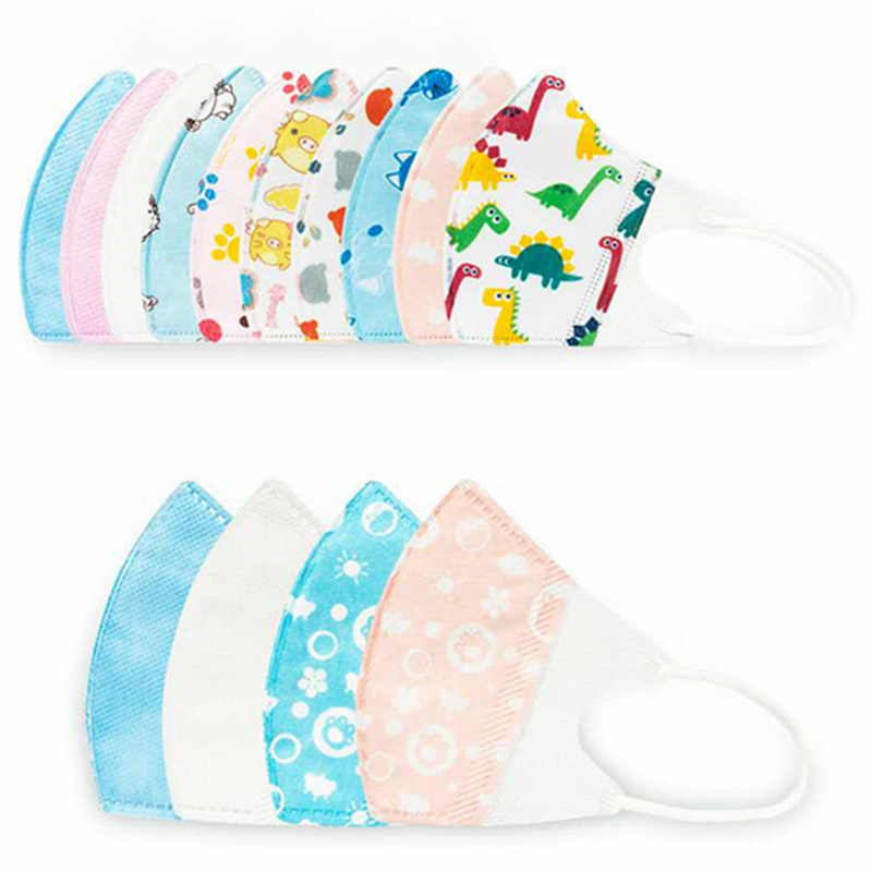 10pcs PM2.5 Kids Disposable Mask Face Mask Child Mouth Mask Anti Exhaust Dust Sun Block Colorful Graphic 2-5 Years Nonwoven Mask
