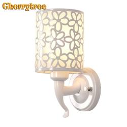 Kinkiet oświetlenie naścienne led Wandlamp nowoczesne przy łóżku do salonu lampka do sypialni oświetlenie wewnętrzne E27 oprawy oświetleniowe 220V Art Deco w Lampy ścienne od Lampy i oświetlenie na