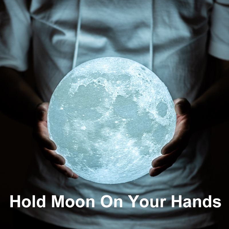 3D Print Moon Lamp for Creative Home Decor with Changing Color 2
