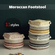 Moroccan Sitting Room Bedroom Futon Mat Floor Bay Window Tatami Fabric Stool Nordic Removable Washable Bohemian Futon Cushion