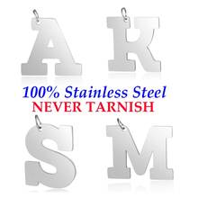 Large Initial Name A-Z Pendant Wholesale 100% Stainless Steel Real 316 Steel DIY Charms AAAAA Quality Pendants Never Tarnish