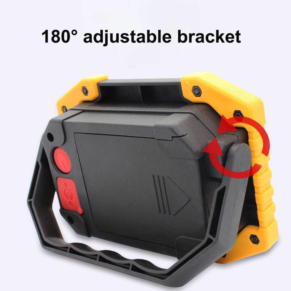 DOZZLOR 30W Draagbare USB Oplaadbare LED Verlichting Nood Zoeklicht W839 W840 W841 Geel COB Licht voor Camping