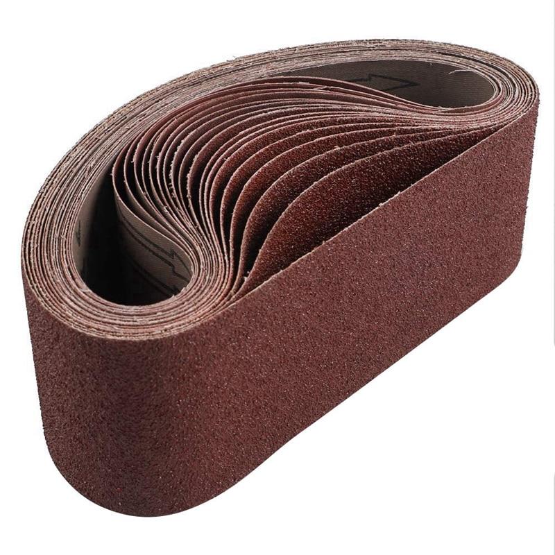 18 Pack Sanding Belts 3X21 Inches(75X533mm) Aluminum Oxide Sanding Belt (3 Each Of 60 80 120 180 240 400 Grits) For Belt Sander