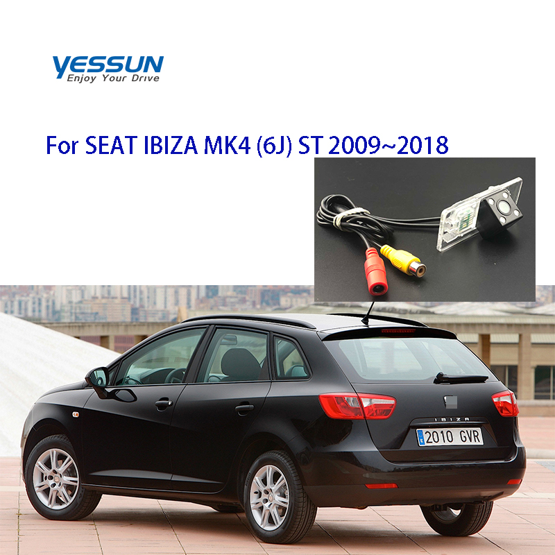 Yessun License Plate Rear View Camera 4 LED Night Vision 170 Degree HD For SEAT IBIZA MK4 (6J) ST 2009~2018