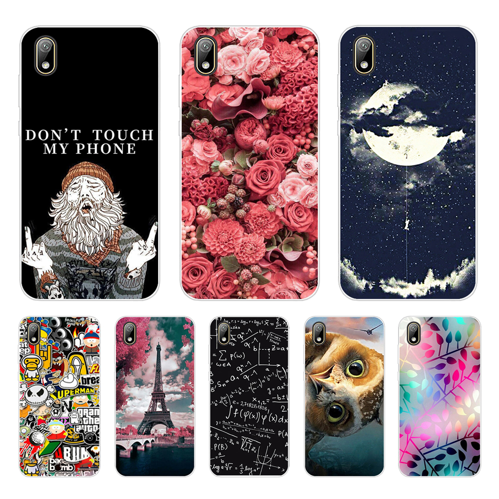case For Huawei y5 2019 Case cover Silicone Soft Phone coque For Huawei Y5 2019 cover bumper 5.71 inch Painted Shells