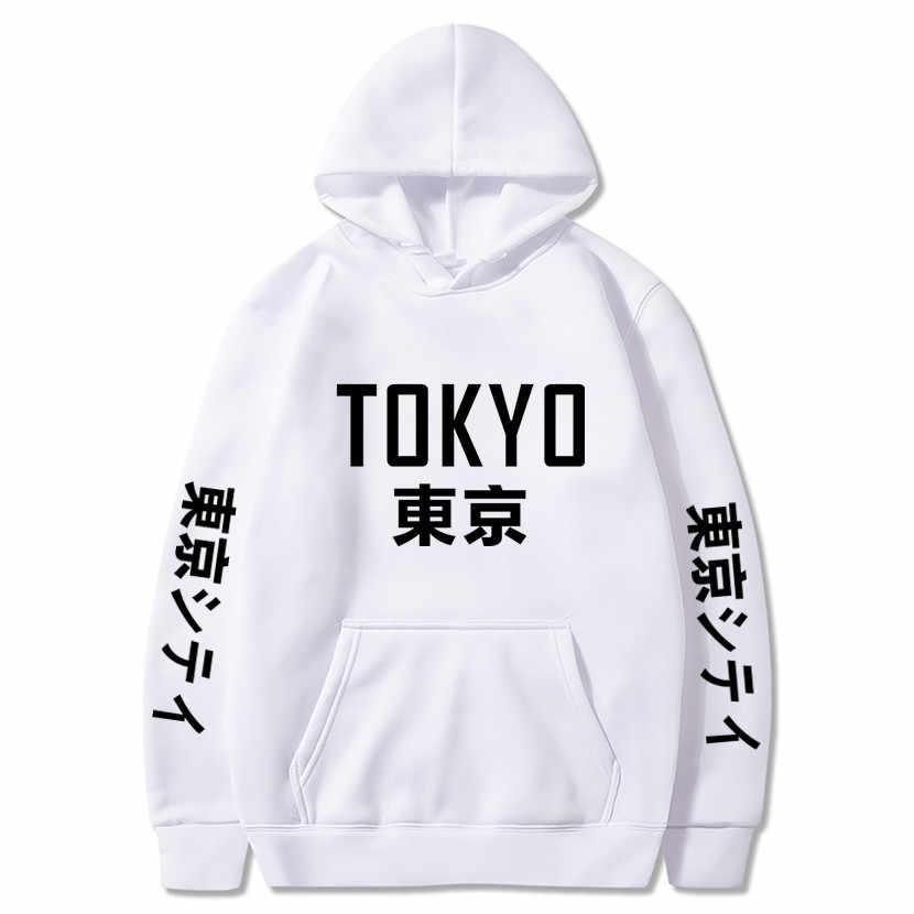 2020 신착 일본 하라주쿠 후드 도쿄 시티 프린트 풀오버 스웨터 힙합 streetwear 남성/여성 후드 티셔츠