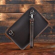 MAHEU-Bolso de mano de cuero auténtico para tableta, bolso de mano de alta calidad con correa de hombro para Ipad Mini, A4