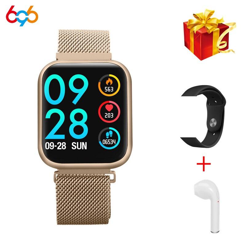 696 p70 versão atualizada p80 relógio inteligente mulher ip68 à prova dip68 água freqüência cardíaca pressão arterial para iphone samsung huawei|Relógios inteligentes| |  - title=