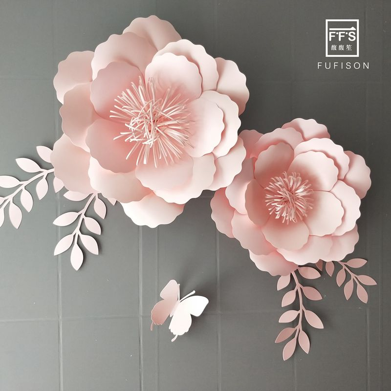 SET10# FFS  Paper Flower Wall Wedding  3D Flowers  Room Decoration  Party Backdrops  Shopwindow  First Birthday Girl Party