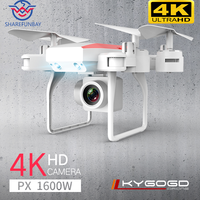 Rc Helicopter Aircraft Flight Hover Photography Four-Axis Air-Pressure KY606D Drone 4k title=