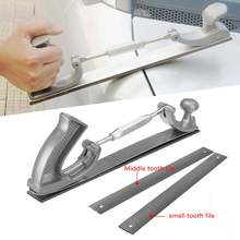 """14"""" S/M Size Adjustable Frame Milled Tooth Car Body Polisher Files Metal Panel Polishing Curved Tooth Steel File Holder"""