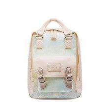 Fashion Corduroy Backpack Style Soft Fabric Female Pure Colo