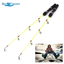 цена на 2pcs Lightweight Ice Fishing Pole 60cm 50g Ice Fishing Rod Winter Fishing Casting Rod Fishing Tackle Free shipping