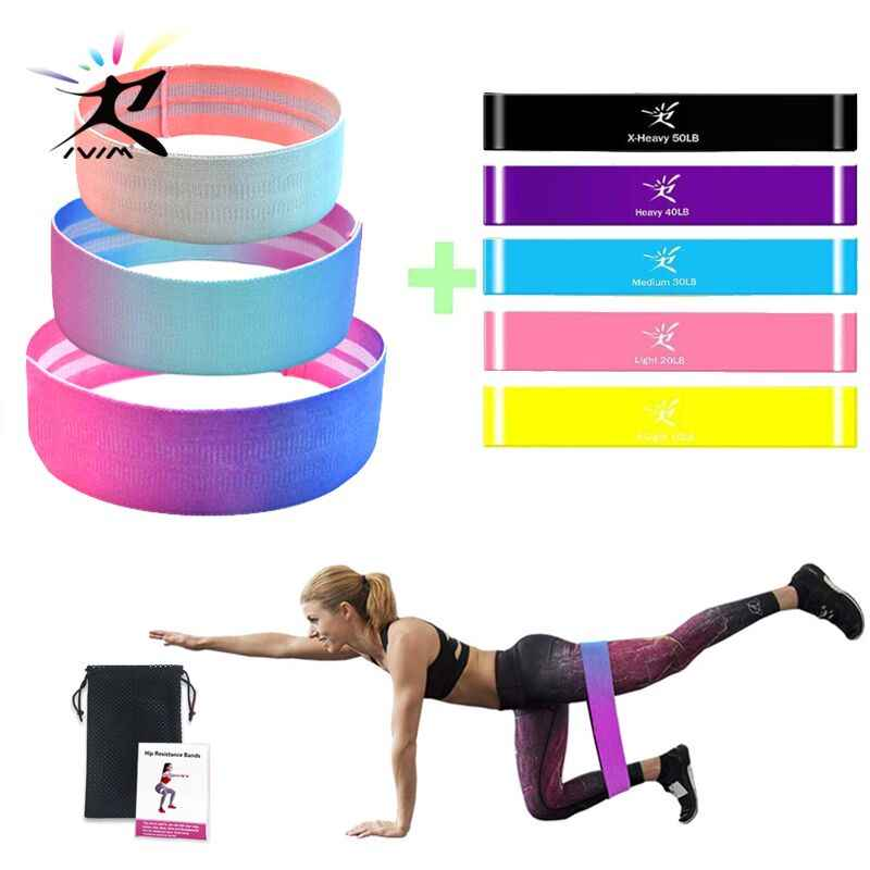 Fitness Resistance Loop Bands Set Yoga Exercise Workout Training Pilates Booty