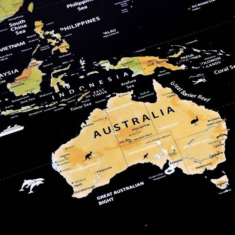 Mapa de Raspar Pôster Raspadinha do Mundo 82x60cm