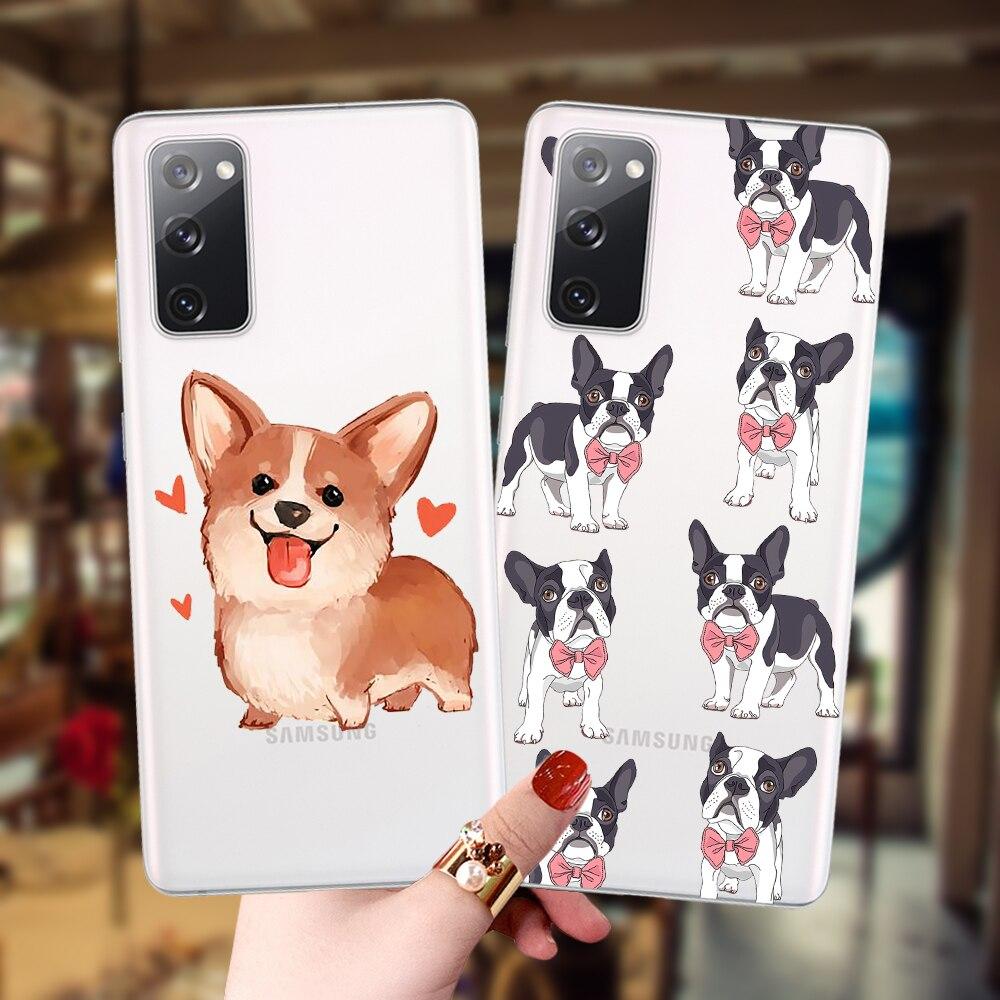 Cute Corgi Akita Bulldog Soft Case For Samsung S20 FE S21 Ultra S8 S9 S10 Plus S10e S20plus Note20 Cover Back Shell Fundas