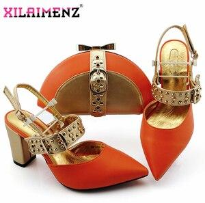 Image 5 - Royal Blue Nieuwe Ontwerp Italiaanse Elegante Schoenen En Tas Te Passen Set Italiaanse Comfortabele Hakken Partij Schoenen En Tas Set voor Bruiloft