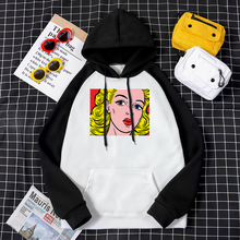 Hoodies Male Sweatshirt Mens Harajuku-Pattern Fashion High-Quality for Man Blonde Girl