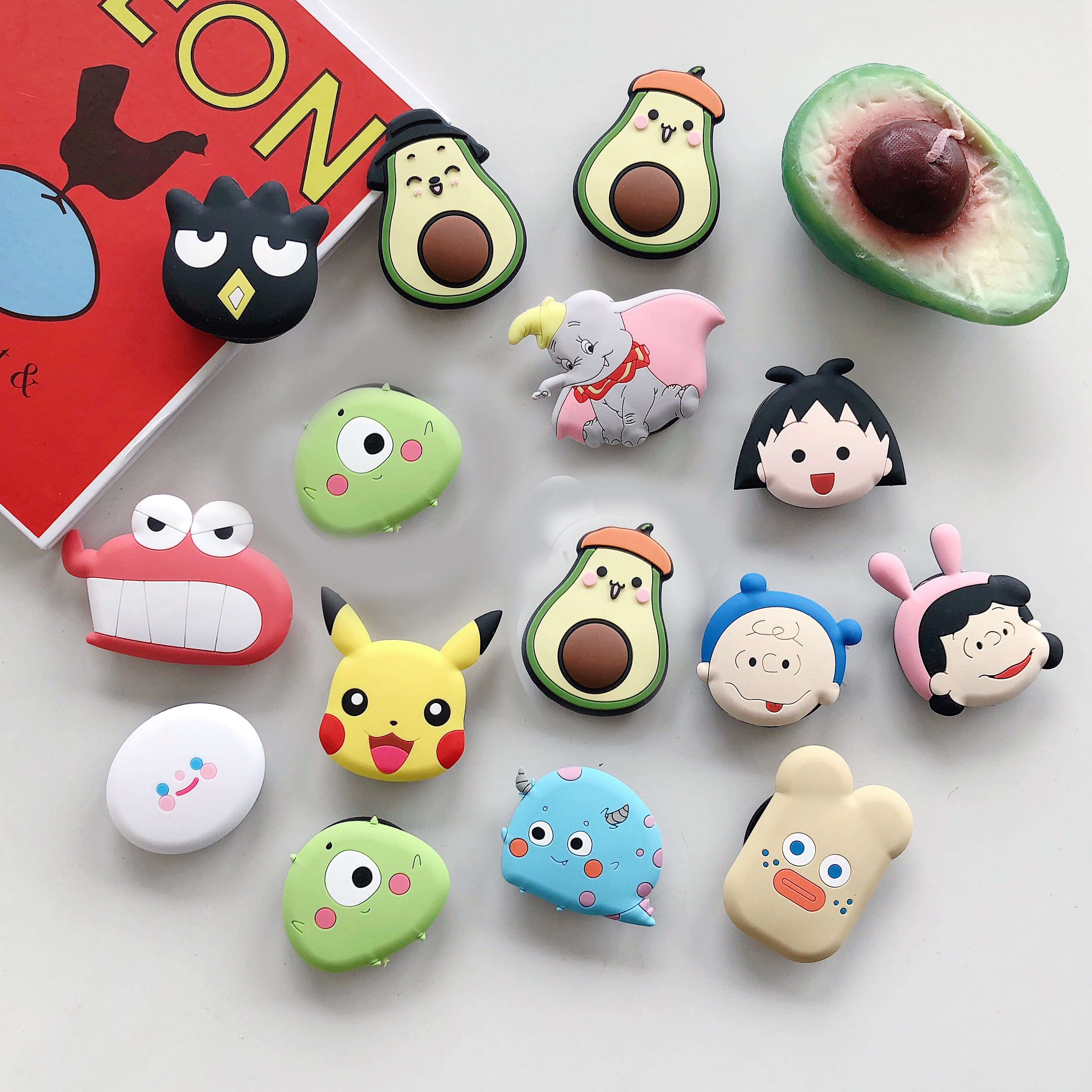 Airbag Stand Cute Cartoon Round Universal Mobile Phone Ring Holder Gasbag Fold Bracket Mount For IPhone XR Samsung Huawei Xiaomi