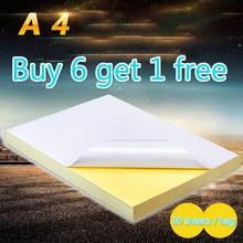50 листов/посылка A4 лазерный струйный принтер копир крафт-бумага белая самоклеящаяся наклейка глянцевая матовая поверхность бумаги