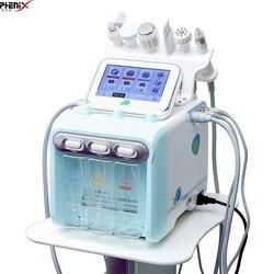Водный кислородный струйный аппарат для алмазной дермабразии для очистки гидро дермабразии Гидра прибор для лица 6 в 1 устройство для пилин...