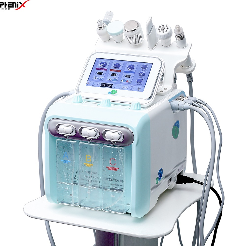 Water Oxygen Jet Skin Diamond Dermabrasion Machine Cleaning Hydro Dermabrasion Hydra Facial Machine 6 In 1 Water Peeling Device