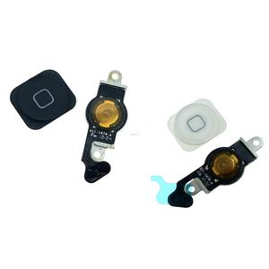New For iPhone 5 5G Home Button Flex Home Button Menu with Holding Gasket Rubber Spacer Flex Cable
