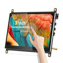 7 zoll 1024x600 IPS Touchscreen, Kapazitiven Tragbare Ultra HD Display-Unterstützt Raspberry Pi, banana Pi Windows