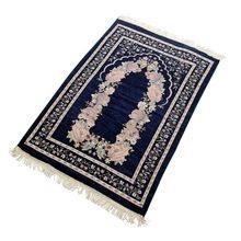 Novo muçulmano islâmico salat musallah tapete de oração viagem cobertor de oração decoração de casa antiderrapante pendão tapete de cabeceira 70*110cm