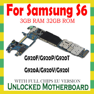 Image 2 - Placa mãe original para samsung galaxy s6 g920f g920p g920v g920a g920t g920i g920f desbloqueado lógica placa mãe peças