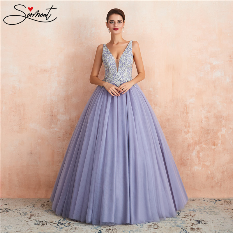 SERMENT Colorful Sexy Lace Purple Wedding Dress Suitable For Parties And Weddings Beading Appliques Free Custom Made